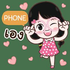 PHONE cute glasses girl e