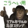 Kouhei Monkey's real name Sticker