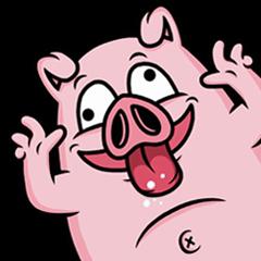 Weird Piggy : Animated Stiker