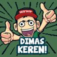 Dimas Bro Gaul Name Sticker