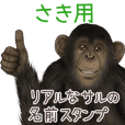 Saki Monkey's real name Sticker