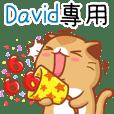 """David專屬""扭扭貓姓名貼圖"