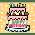 Birthday cake (November)