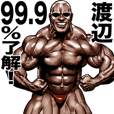 Watanabe dedicated Muscle macho sticker