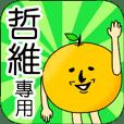 【哲維】專用 名字貼圖 橘子