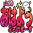 山崎さんデカ文字シンプル2[カラフル]