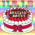 11月1日~16日 2種類日付入り誕生日ケーキ