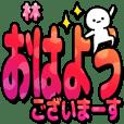林さんデカ文字シンプル2[カラフル]