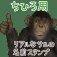 Chihiro Monkey's real name Sticker
