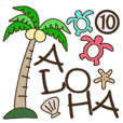 Hawaiian adult sticker10
