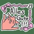 German (Deutsch) sausage dog sticker