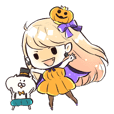 Halloween Princess Sticker