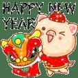 亮亮豬2019新年&聖誕鑽石貼圖