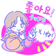 Pop! Cute girls sticker