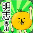 【明志】專用 名字貼圖 橘子