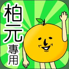 【柏元】專用 名字貼圖 橘子