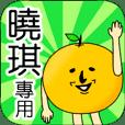 【曉琪】專用 名字貼圖 橘子