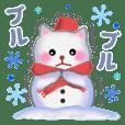 雪だるまネコさん 2019
