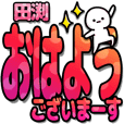 田渕さんデカ文字シンプル2[カラフル]