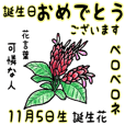 11月、誕生日ごとの誕生花と花言葉。