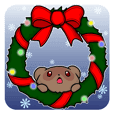 Raccoon Winter Sticker.