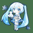 雪ミクスタンプ by milktea101