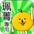 【珮菁】專用 名字貼圖 橘子