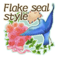 flake seal style Honorific stickers