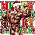 Winter muscle macho sticker