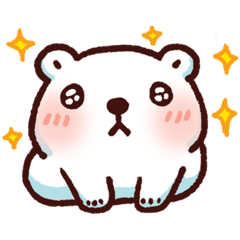 สติ๊กเกอร์ไลน์ หมีขาวแบค แบค ขยับดุ๊กดิ๊ก