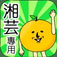 【湘芸】專用 名字貼圖 橘子
