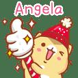 """Angela 冬季限定""扭扭貓姓名貼Q"