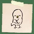 Birdie - Eraser stamp