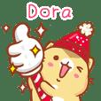 """""""Dora 冬季限定""""扭扭貓姓名貼Q"""
