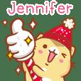 """Jennifer 冬季限定""扭扭貓姓名貼Q"