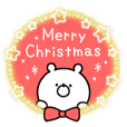 "*Animated* Girly Bear ""Christmas lights"""