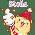 """Stella 冬季限定""扭扭貓姓名貼Q"