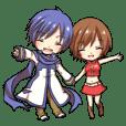 KAITOとMEIKOのなかよしスタンプ