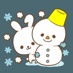 Yukimi rabbit Winter, New Year's Holiday
