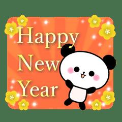 Cute panda's sticker 6 -winter-