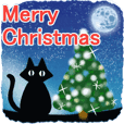 クロ猫☆日常▷冬