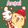 """Angel 冬季限定""扭扭貓姓名貼Q"