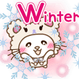 Panda cat Pan'nya moving winter english3