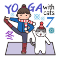 YOGA with cats 7