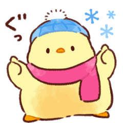 Soft and cute chick winter(animation)