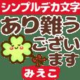 動く❤【みえこ専用❤タメ語/敬語】デカ文字