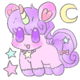 Unicorn sticker for everyday use.