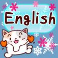 Cat & snow(English)
