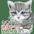 さおりに送信やで!関西弁猫スタンプ