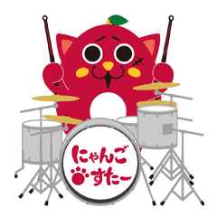 Crazy Technique Drummer NyangoStar Stamp LINE Sticker